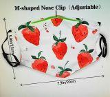 Stoff Maske - Erdbeeren mit Filter