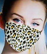 Stoff Maske - Leopardenmuster mit Filter