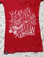 Queen Kerosin Batik Vintage Shirt / We can Fly - weinrot