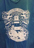 Queen Kerosin Batik Vintage Shirt / Sailors Home - blau
