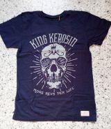 Vintage T-Shirt von King Kerosin - More Revs per Life Skull / Blau