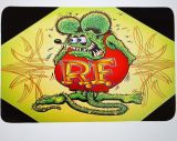 Bathroom carpet - Rat Fink / green