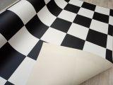 Karo Bodenbelag 2.Meter - Schachbrettmuster schwarz / weiss