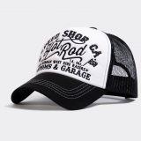 Trucker Cap von King Kerosin - Hot Rod / Black & White