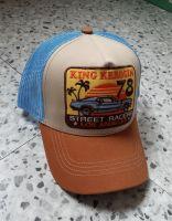 Trucker Cap from King Kerosin - Street Racers / Blue-beige