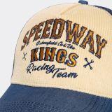 Trucker Cap mit Cord-Front von King Kerosin - Speedway Kings / Beige - blau