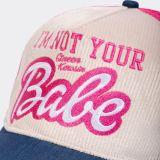 Trucker Cap mit Cord-Front von Queen Kerosin - I`m not your Babe / pink-beige-blau