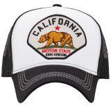 Trucker Cap von King Kerosin - California Motor State / Weiss-schwarz