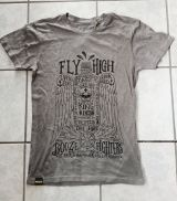Batik Vintage Shirt - Booze Figthers / grau - Limited Edition