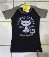Queen Kerosin Girls Raglan T-Shirt - Bat Cat