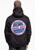 Outdoor Adventure Gear Sweat Hoodiejacke von King Kerosin - Garage Built / Schwarz