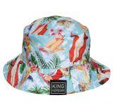 Bucket Hat von King Kerosin - Pin up / Hawaii Girl