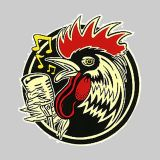 Kruse Rockabilly Rooster Sticker RKS35
