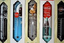 Thermometer / Blechuntersetzer