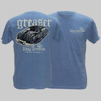 King Kerosin Vintage T-Shirt blau - Greaser / Limited Edtion