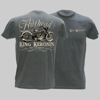 King Kerosin Vintage T-Shirt - Flathead Bike -grau / Limited Edtion