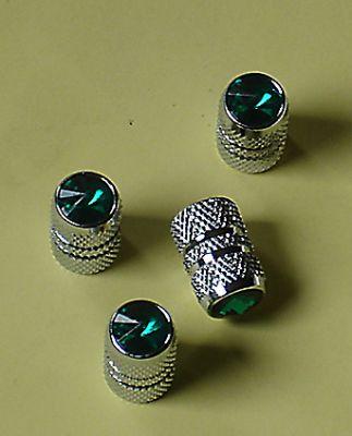 Green Jeweled Air Valve Caps