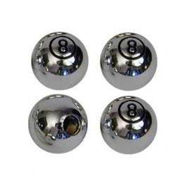 Ventilkappen - 8 Ball Chrome gross