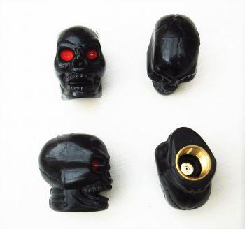 Ventilkappen - Skull schwarz