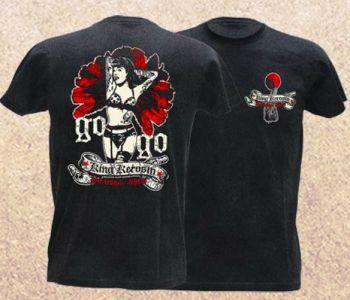 King Kerosin Vintage T-Shirt - Go go Burlesque / Limited Edtion
