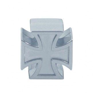 Ventilkappen - Malteser Kreuz / Chrome