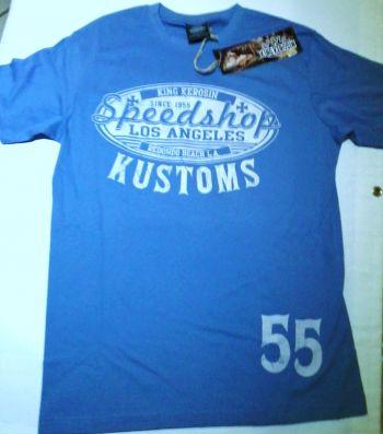 King Kerosin Regular T-Shirt blau / Speed Shop Kustom