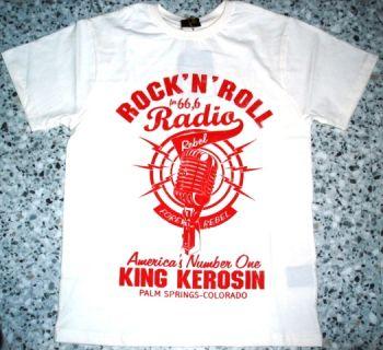 King Kerosin Regular T-Shirt white / Rock`n`Roll Radio
