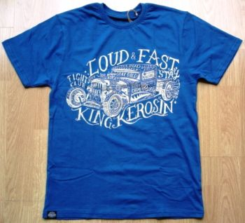 King Kerosin Regular T-Shirt Blau / Stay Loud & Fast