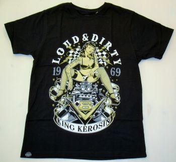 King Kerosin Regular T-Shirt / V8 Loud & Dirty - schwarz