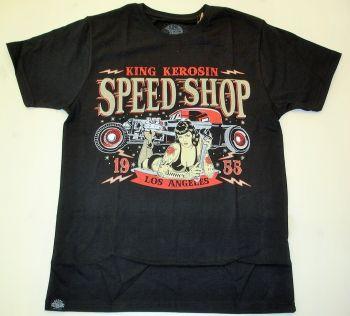King Kerosin Regular T-Shirt / Speed Shop L.A. - schwarz