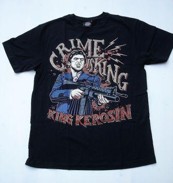 King Kerosin Regular T-Shirt / Crime is King - schwarz