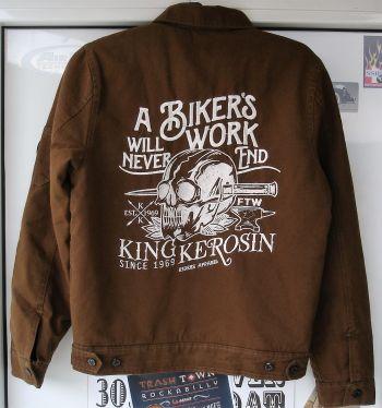 Vintage Canvas Jacke Braun - Bikers Work
