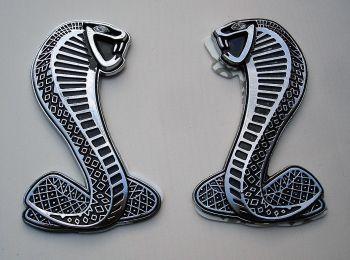 Seiten Emblem - Cobra / silber