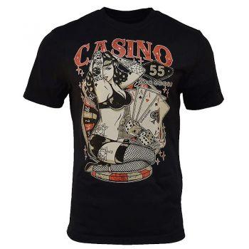 King Kerosin Regular T-Shirt / Casino 55 - black