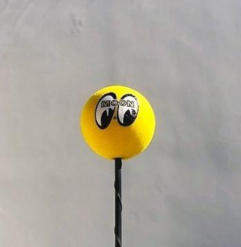Antennen Ball - Moon gelb