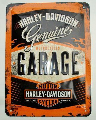 Blechschild klein - Harley Davidson Garage