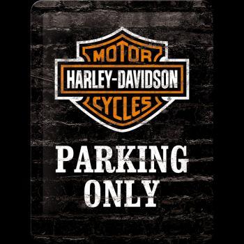 Blechschild klein - Harley-Davidson Parking Only