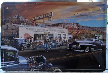 Retro Blechschild - Canyon Club