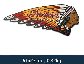 Retro Blechschild - Indian Motorcycle / Head