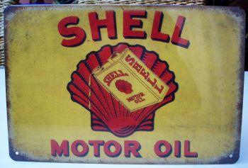 Retro Blechschild - SHELL Motor OIL