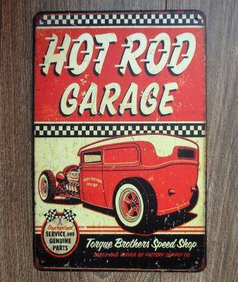 Retro Blechschild - Hot Rod Garage / Torque Brothers Speed Shop