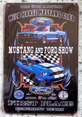 Vintage Steel Plate - Mustang and Ford Show