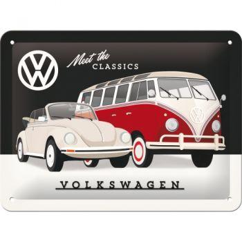 Blechschild klein - VW, Meet the Classics