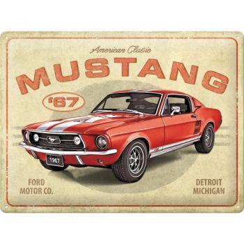 Blechschild Large - Ford Mustang GT 1967 Rot