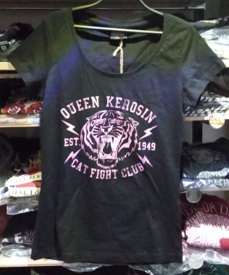Queen Kerosin Girls T-Shirt - Cat Fight Club / black-rose