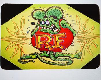 Badezimmer Teppich - Rat Fink / grün