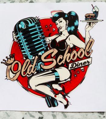 Pin up Sticker - Old School Diner