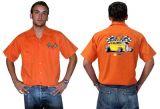 Race Gear Worker Shirt :  Ws2-Lrs / orange