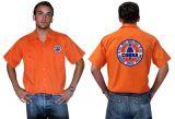 Race Gear Worker Shirt :  Ws2-25 / orange