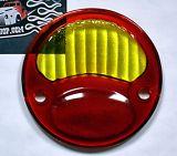 Ersatz Glas für 1928-31 Ford Rücklicht Rot/gelb